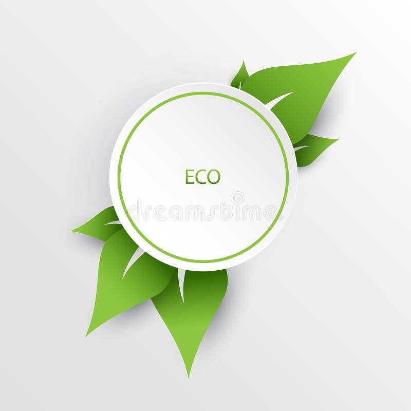 Green nature eco background royalty free illustration