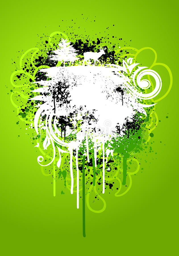 Green nature grunge vector illustration