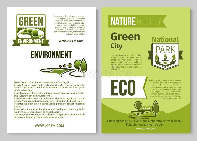 download green nature vector poster of eco environment stock vector illustration of garden brochure