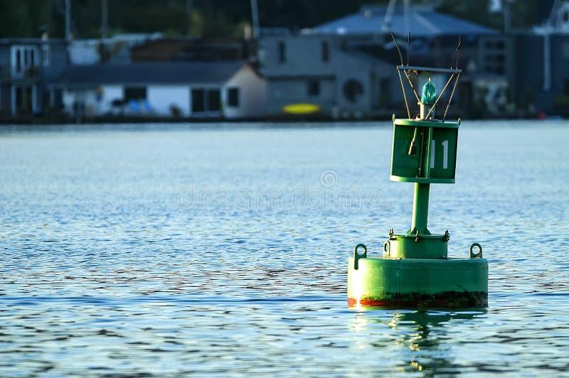 Navigation buoy on Lake Union, Seattle, WA royalty free stock photo