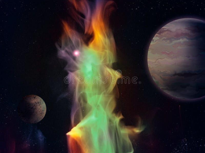 Download Green Nebula - Digital Painting Royalty Free Stock Images - Image: 22223439