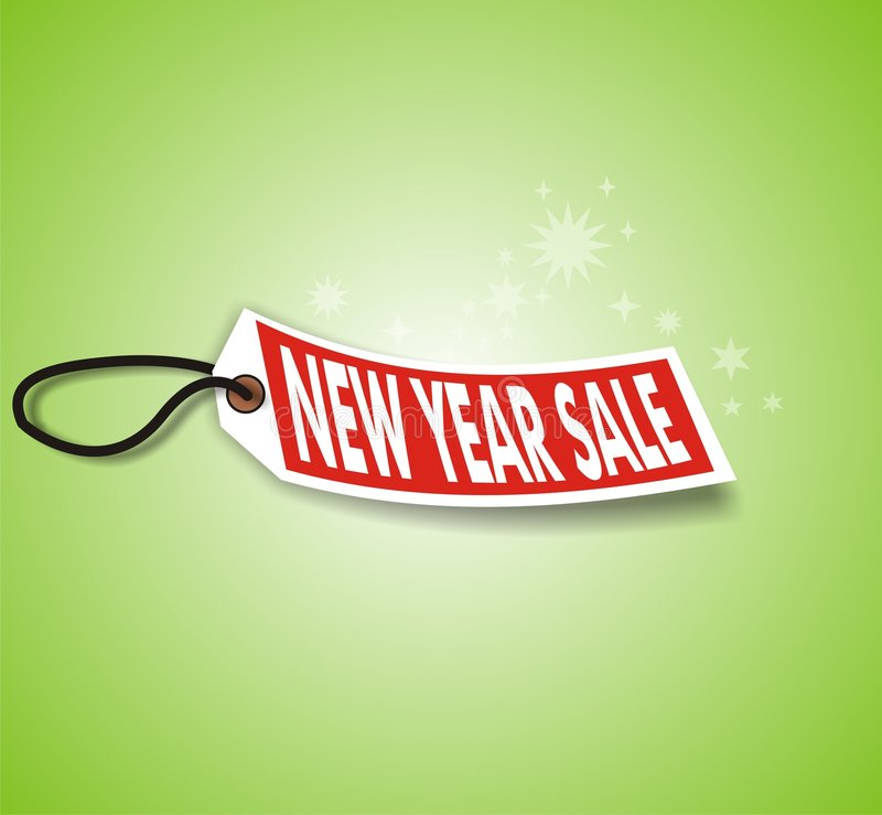 Green New Year Sale Stock Photos