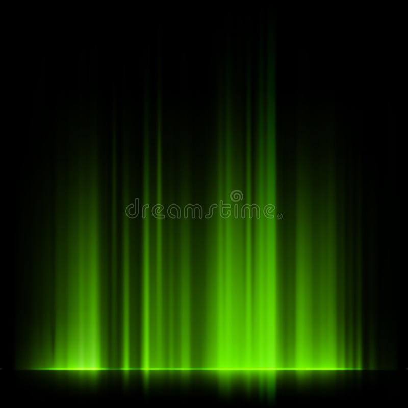 Download Green Northern Lights, Aurora Borealis. EPS 10 Stock Photography - Image: 37041792