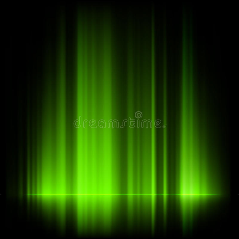 Download Green Northern Lights, Aurora Borealis. EPS 10 Stock Vector - Image: 34796610