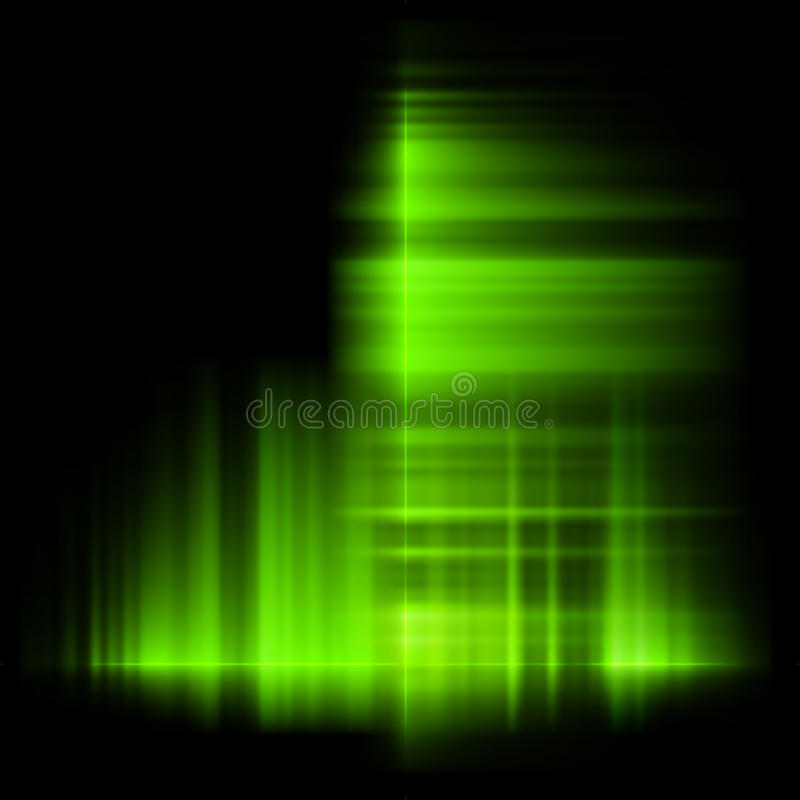 Green Northern Lights, Aurora Borealis. Stock Vector