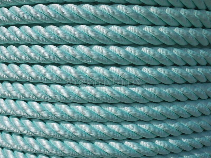 Green Nylon rope royalty free stock photography