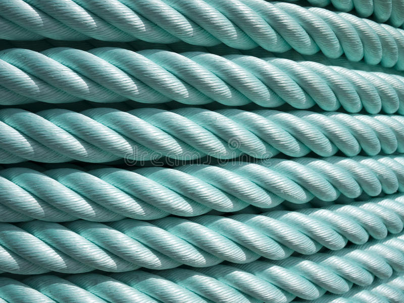 Green Nylon rope stock photos