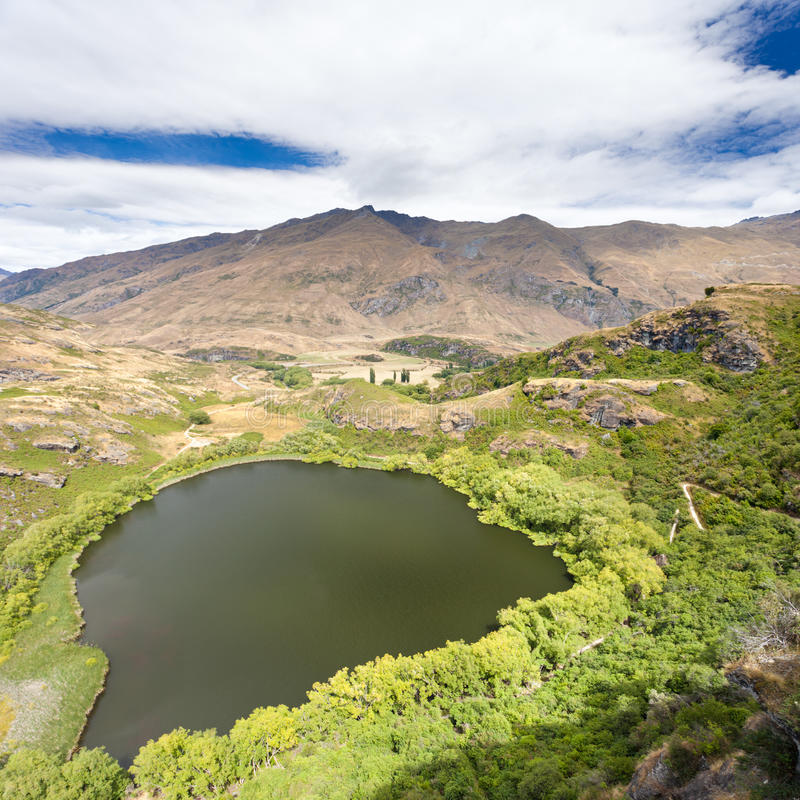 Download Green Oasis In Dry Highlands Of Central Otago, NZ Stock Photos - Image: 25452463
