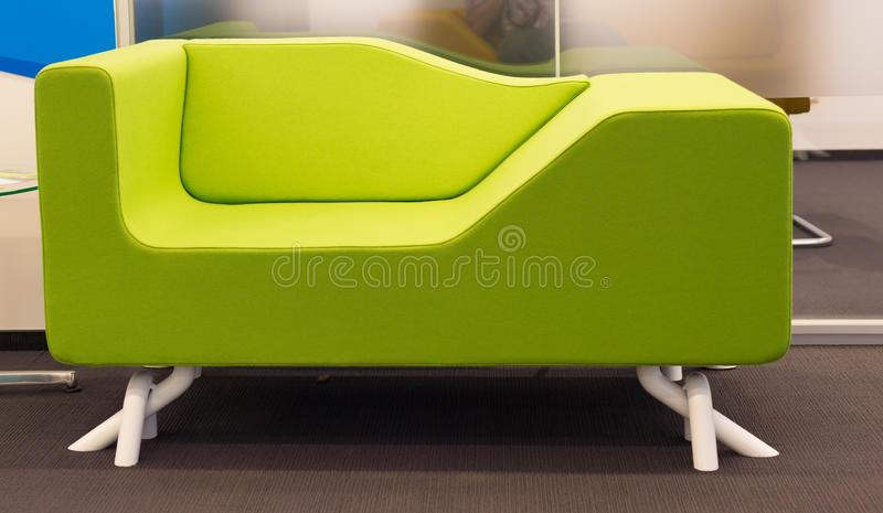 Green office sofa royalty free stock photography