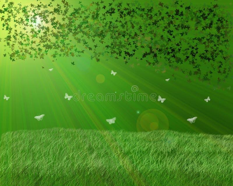green ogrodowa royalty ilustracja
