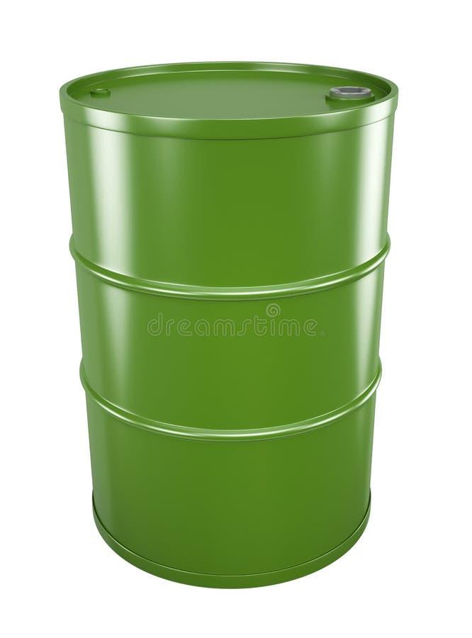 Green oil drum royalty free illustration