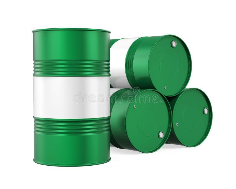 Green Oil Drum Isolated stock illustration