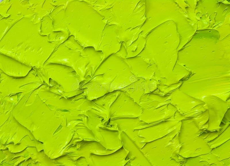 Green oil paint stock photos