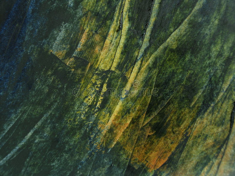 Green oil paint texture. Green and yellow grass-like oil paint texture