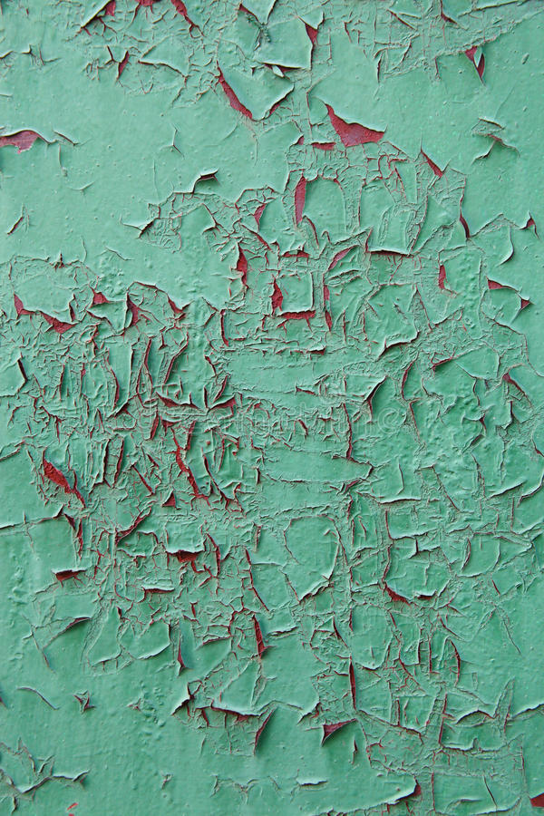 Free Green Oil Paint Was Peeling On The Red Metal As The Streaks Of B Royalty Free Stock Photography - 74219907
