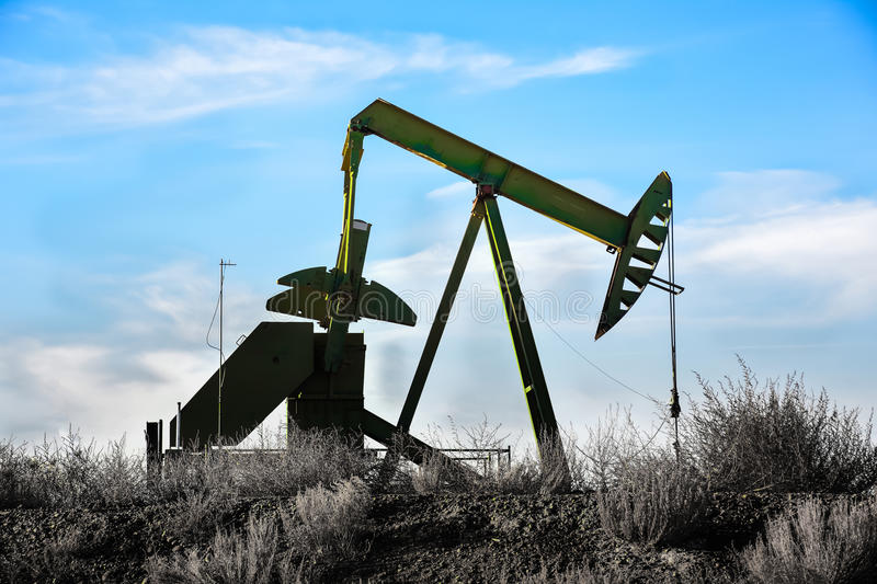 Green Oil Pump stock photography