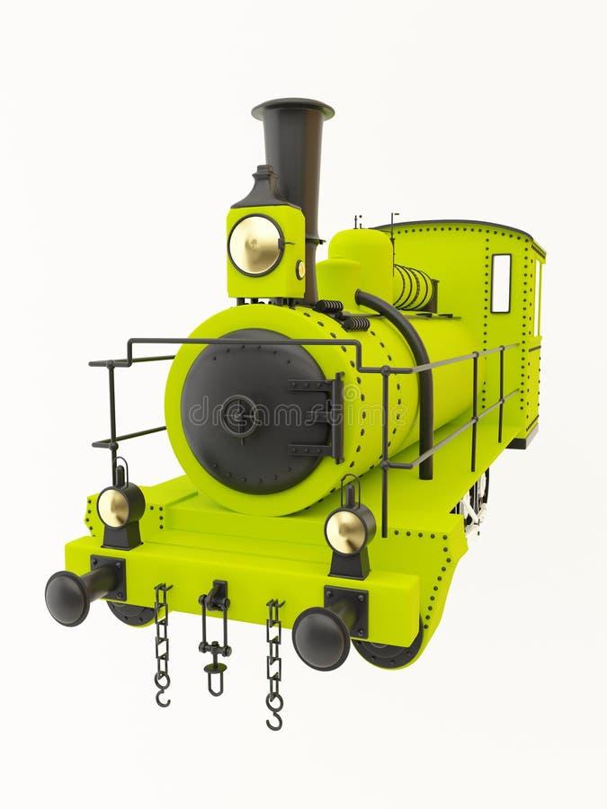 Download Green old steam train stock illustration. Illustration of historic - 20963367