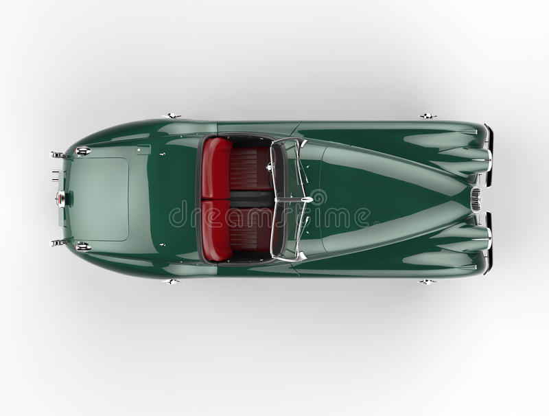 Green Old-timer Car On White Background - Top View Stock ...