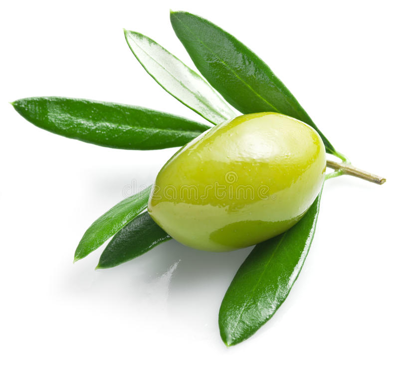 Free Green Olive With Leaves. Royalty Free Stock Photos - 52274428