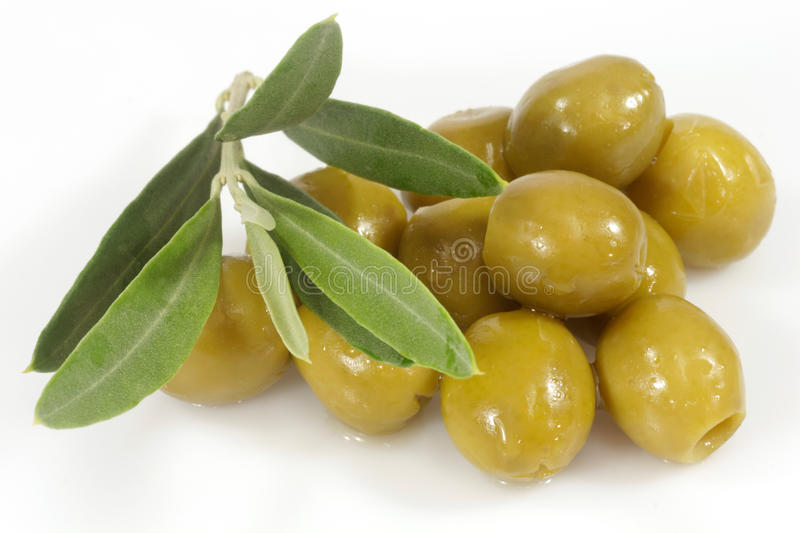 Download Green Olives With Olive Branch Stock Photo - Image: 13291204