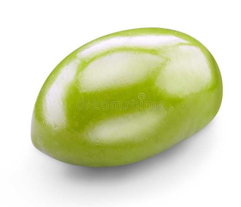 Green olives isolated royalty free stock photo