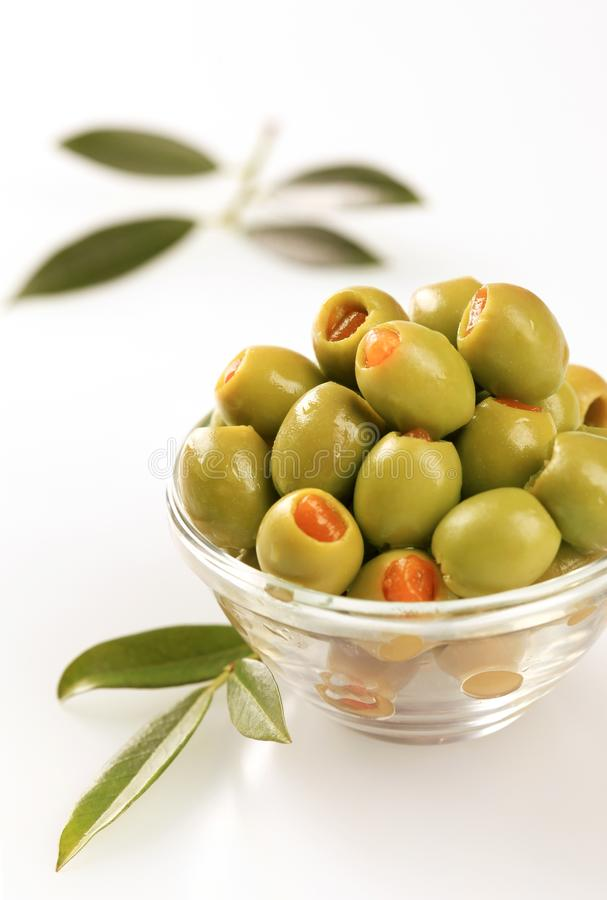 Free Green Olives Stuffed With Pimento Stock Image - 10619761