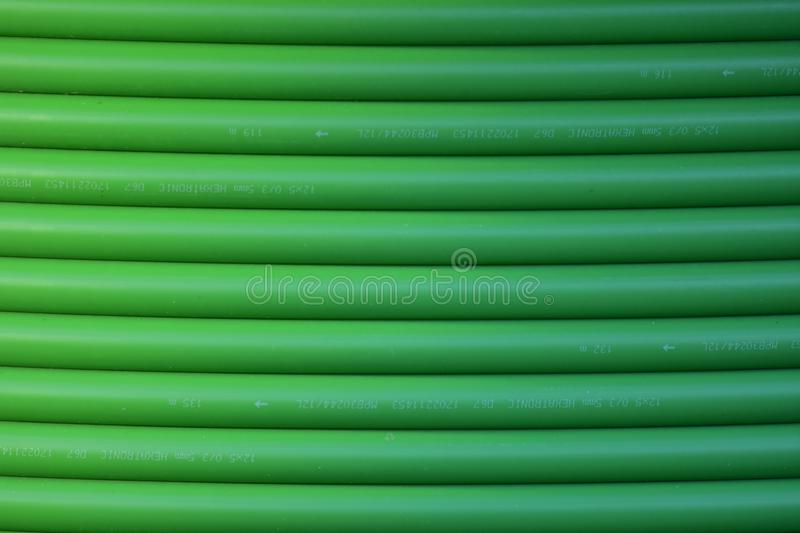 Green optical cable pattern royalty free stock image