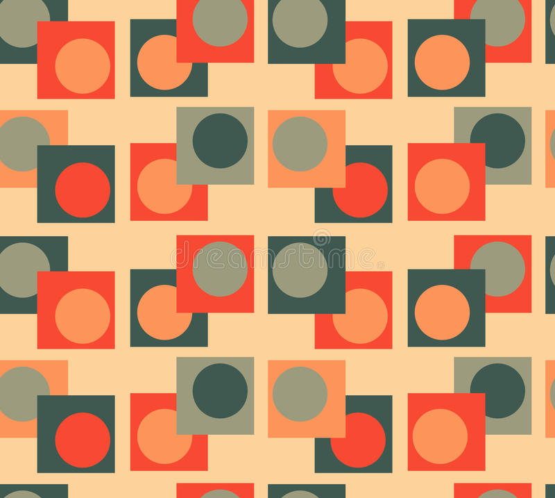 Green orange Geometry seamless background royalty free stock images