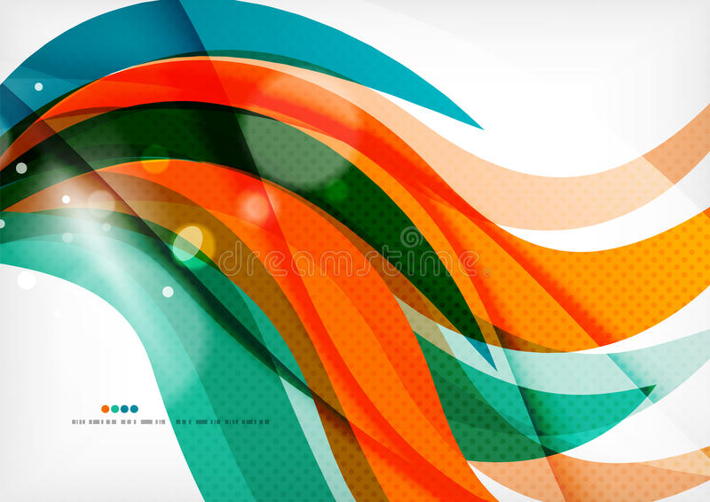 Green and orange lines modern abstract background stock illustration