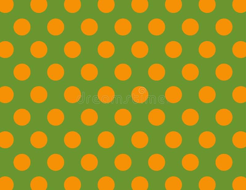 Green and Orange Polka Dots. Green and Orange Polka Dot Background royalty free illustration