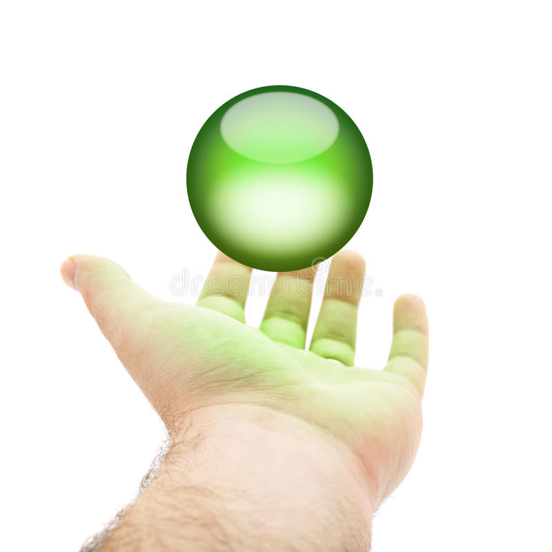 Download Green Orb Hand stock illustration. Image of glowing, peace - 15186643