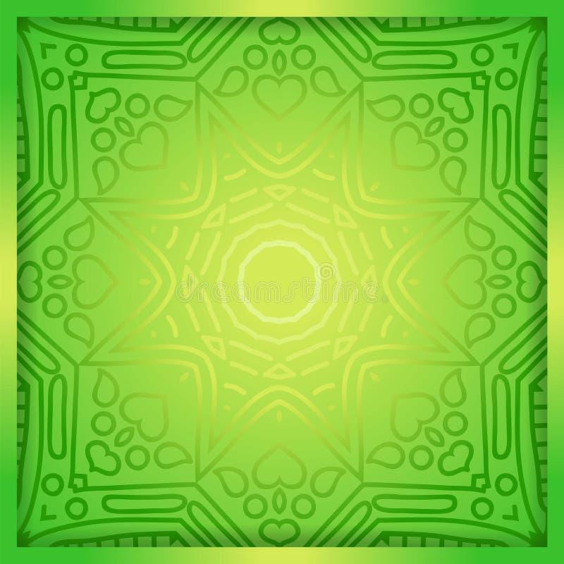 Green ornament and gradient. Overlay elements. Geometric background. Geometric background. A stylized drawing. Mandala. Decorative elements. Islam, Arabic vector illustration