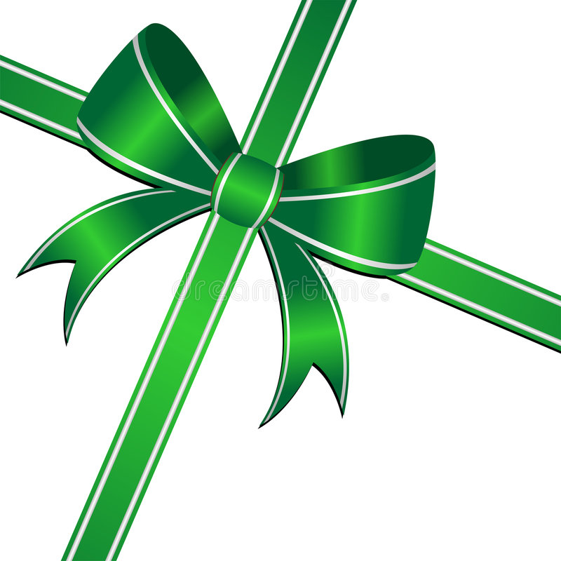 Green Ornamental Bow Royalty Free Stock Photography
