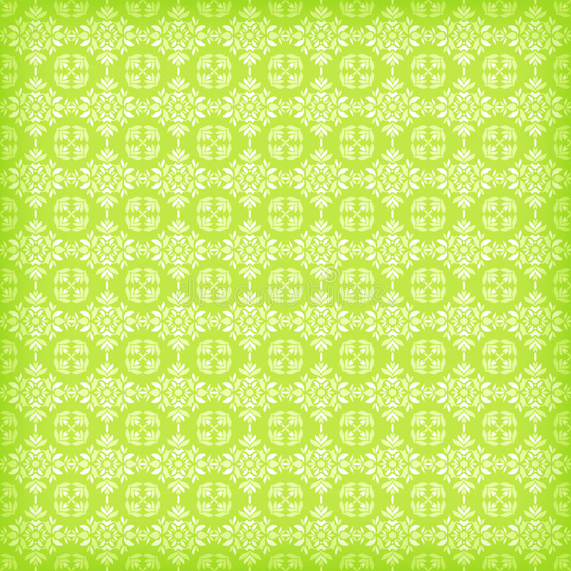 Green ornamental seamless. Vector illustration royalty free illustration
