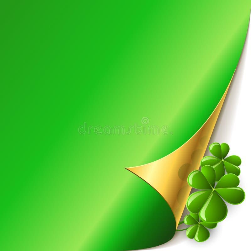 Green page corner vector illustration