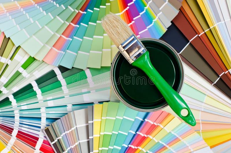 Green Paint Sample. Stock Photo