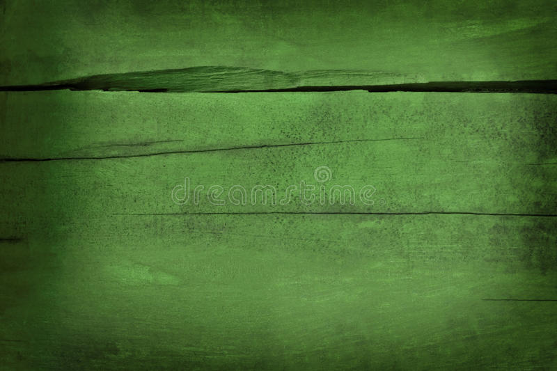 Green painted cracked ancient wooden board background royalty free stock photos