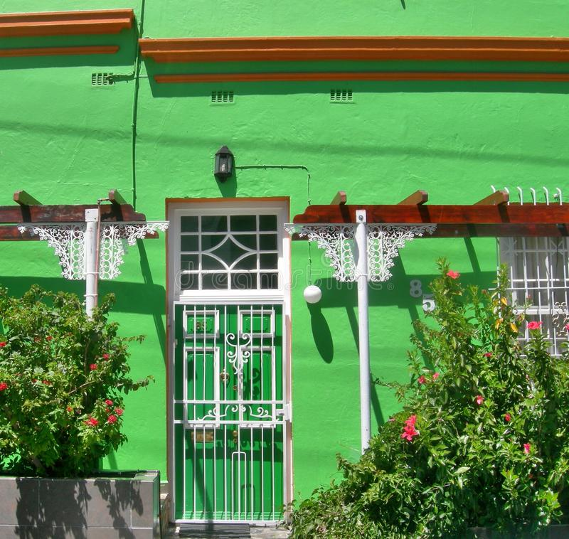 Download Green Painted House With White Window In Bo Kaap , Cape Town ,  South