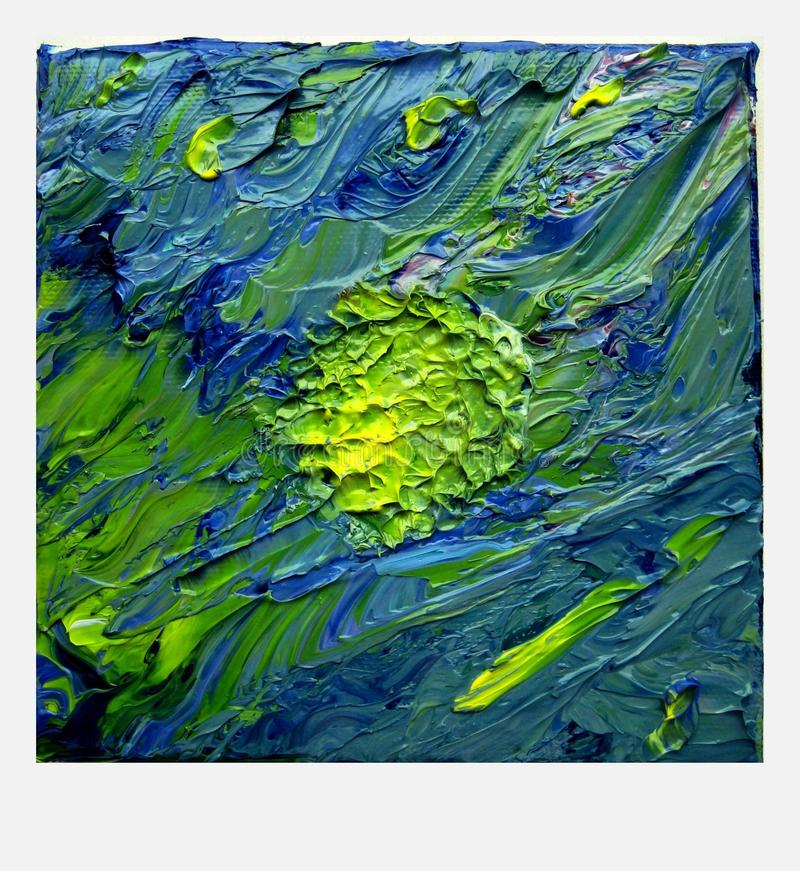 Green, Painting, Water, Acrylic Paint royalty free stock images