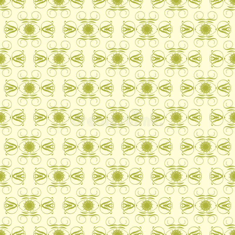 Download Green And Pale Yellow Damask Seamless Pattern Stock Illustration - Illustration of yellow, shapes: 19320828