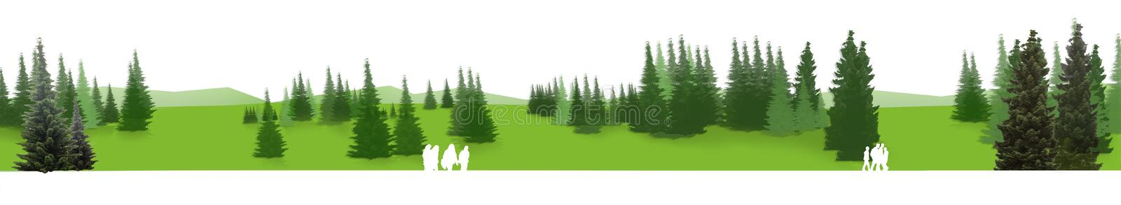 Green Panorama royalty free stock images