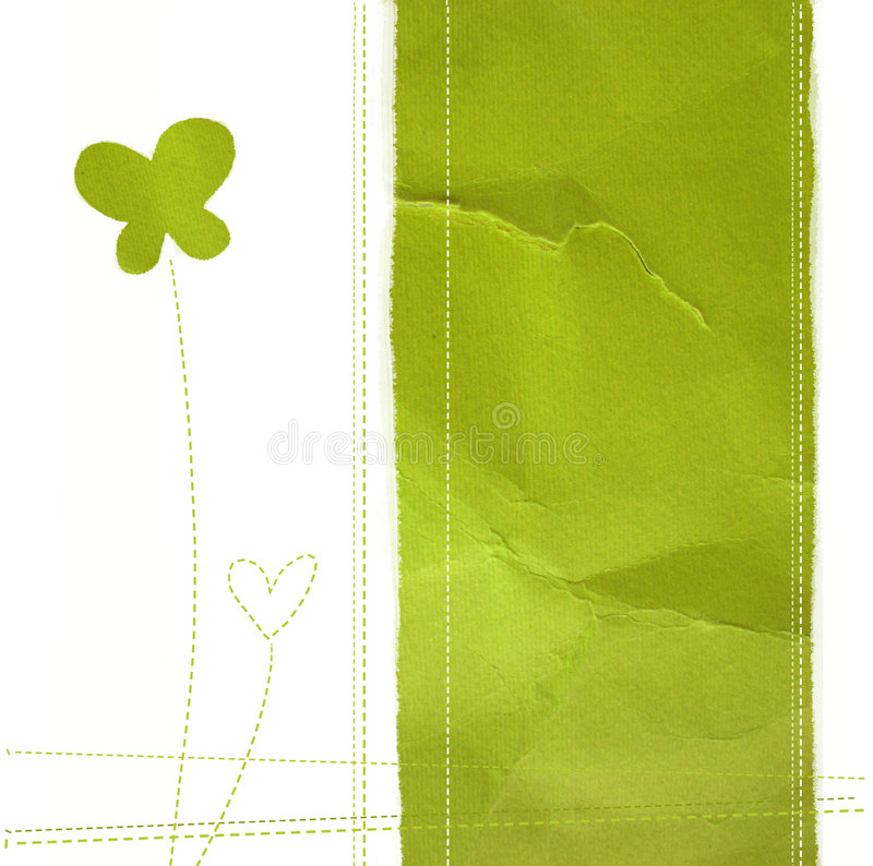 Green paper stock illustration