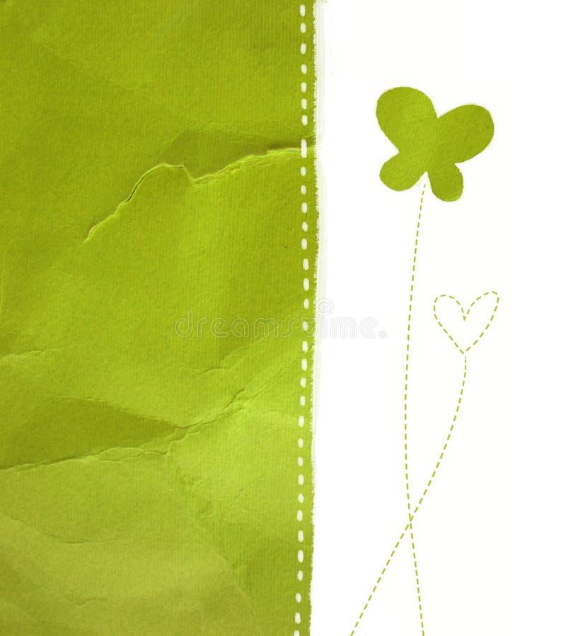 Green paper stock illustration