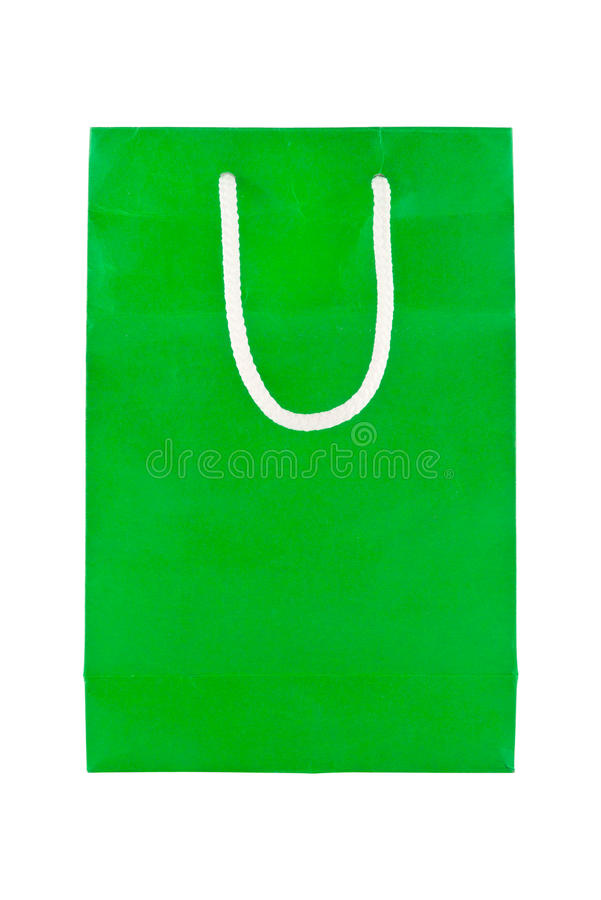 Green paper bags royalty free stock images