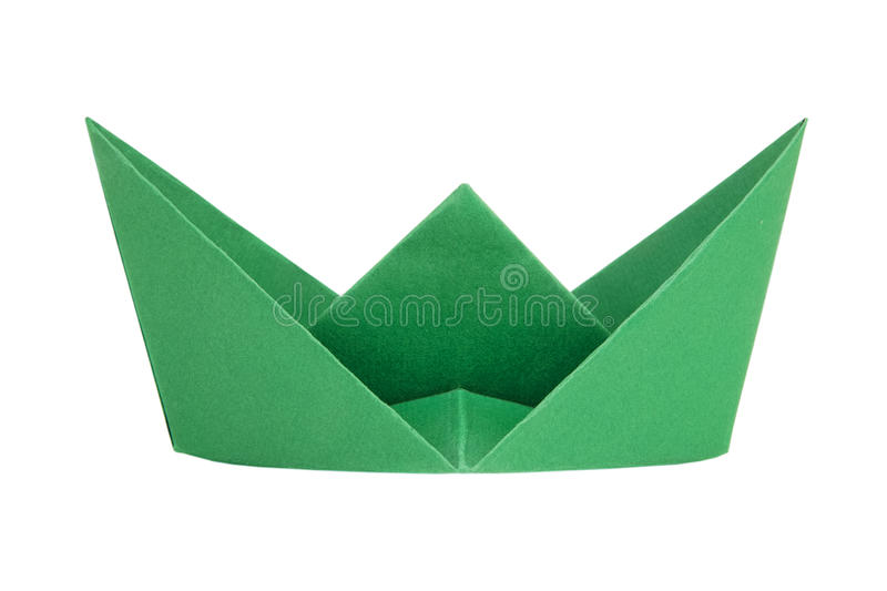 Download Green paper boat stock photo. Image of vessel, sail, white - 83710260