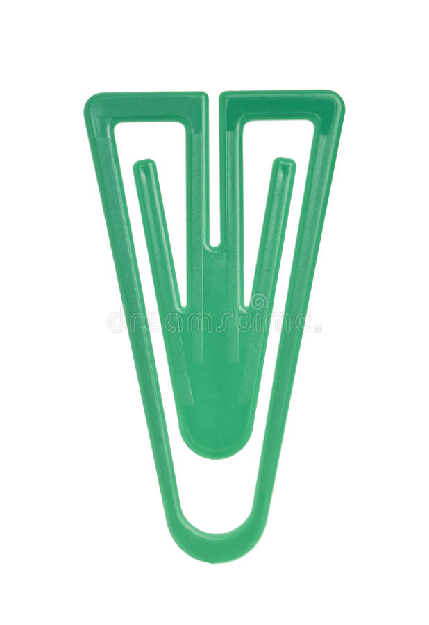 Download Green Paper Clip stock photo. Image of close, path, green - 21980126