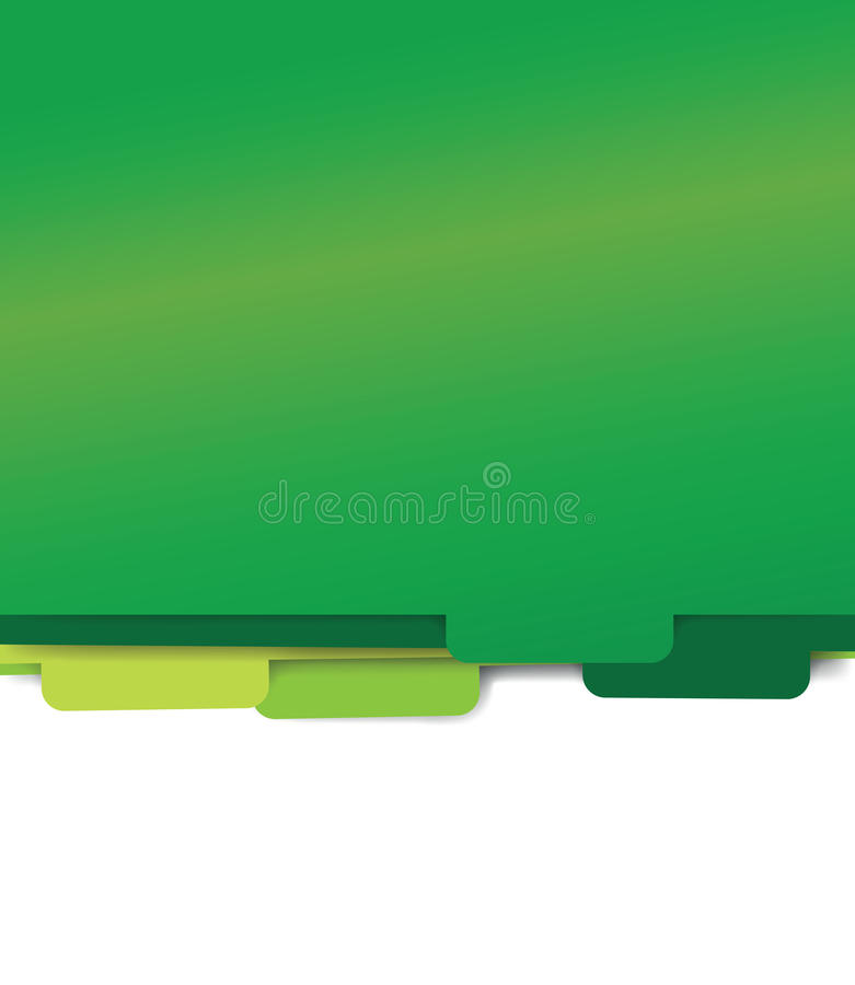 Green paper folder files stock illustration