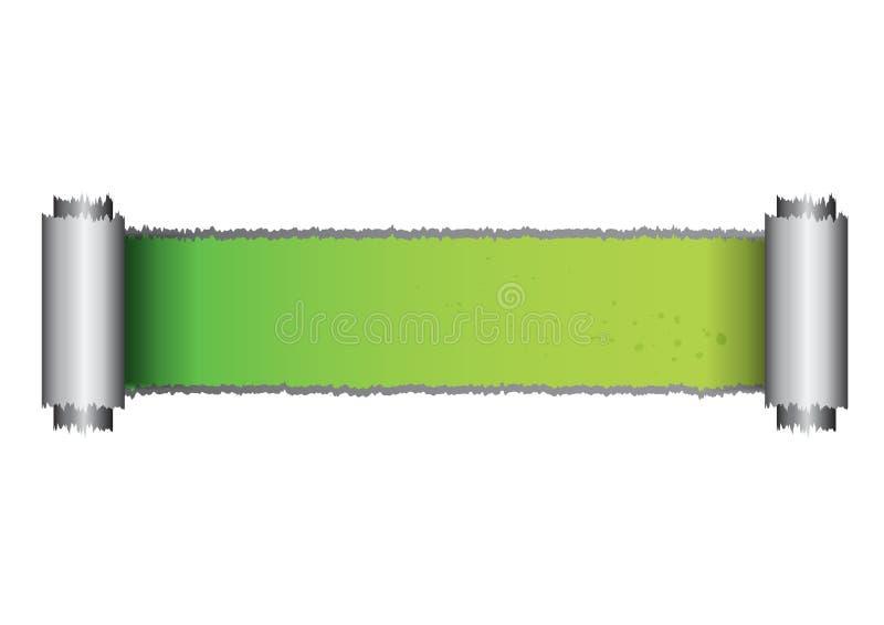 Green paper rip vector. Is a general illustration vector illustration