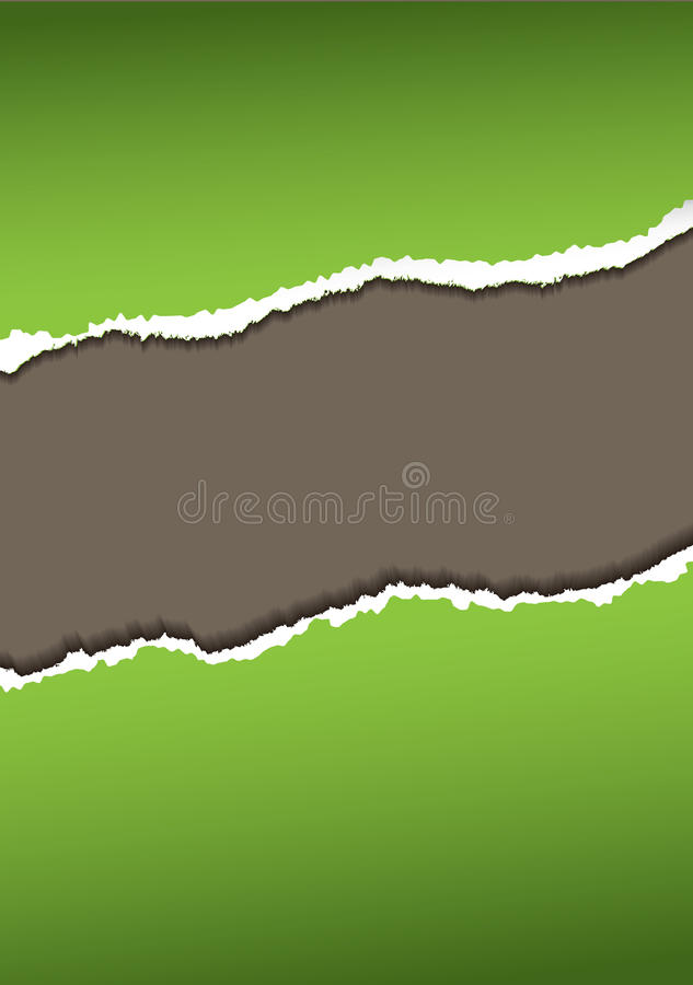 Download Green paper tear stock vector. Image of brown, destroyed - 14852497