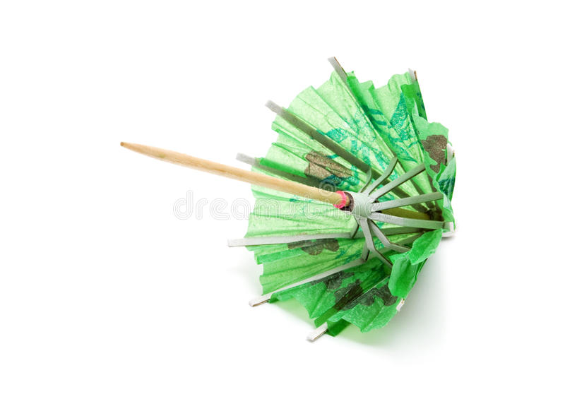 Green paper umbrella royalty free stock image